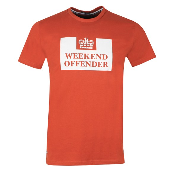 Weekend Offender Mens Brown Weekend Offender Prison T-Shirt