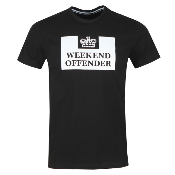 Weekend Offender Mens Black Weekend Offender Prison T-Shirt