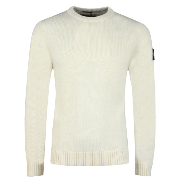 Weekend Offender Mens White Fercho Knitted Jumper