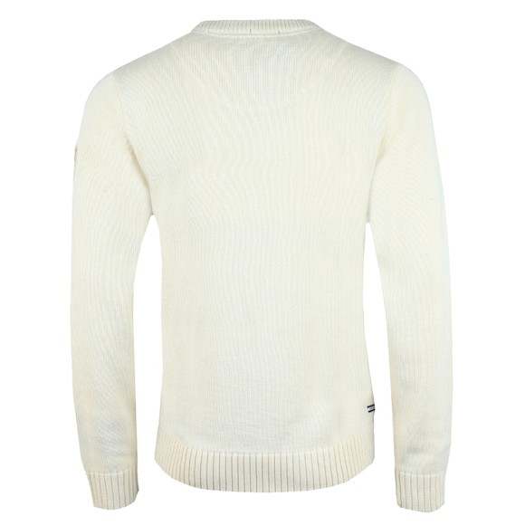Weekend Offender Mens White Fercho Knitted Jumper main image
