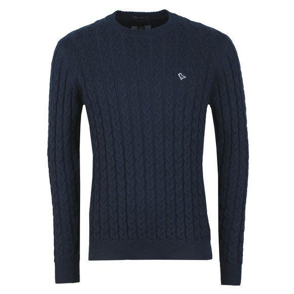 Weekend Offender Mens Blue Castano Cable Knit