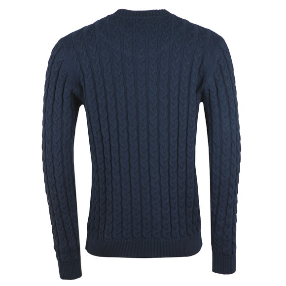 Weekend Offender Mens Blue Castano Cable Knit main image