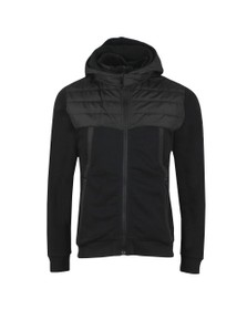 Weekend Offender Mens Black Camerena Mixed Fabric Hoody