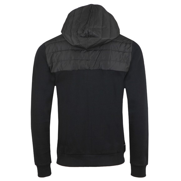 Weekend Offender Mens Black Camerena Mixed Fabric Hoody main image