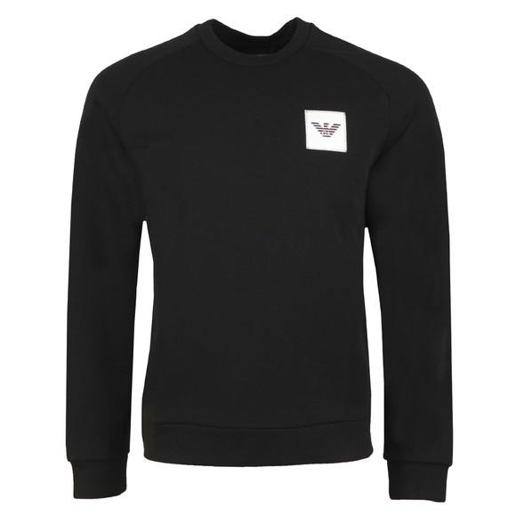 Emporio Armani Mens Black Square Logo Sweatshirt main image