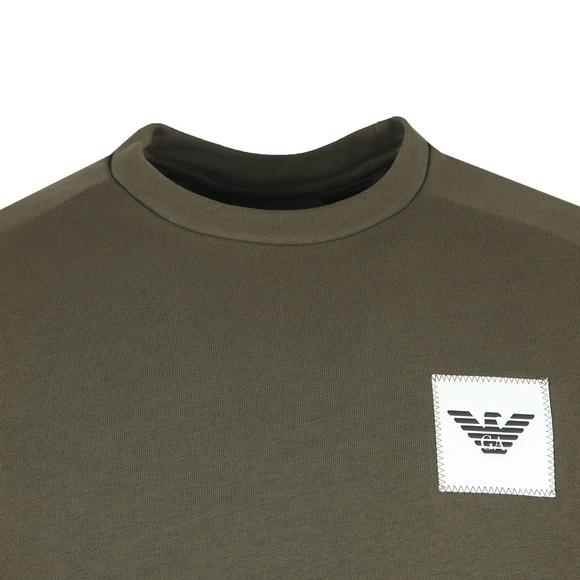 Emporio Armani Mens Green Square Logo Sweatshirt main image