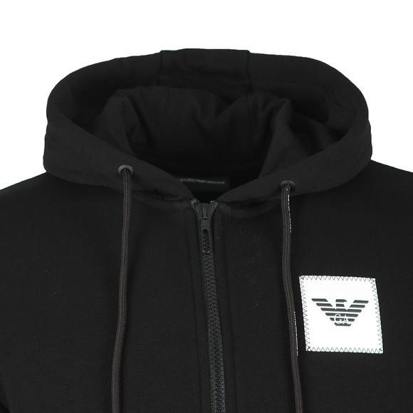 Emporio Armani Mens Black Square Logo Zip Hoody main image