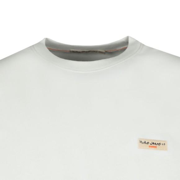 Nudie Jeans Mens Off-White Daniel Logo T-Shirt main image