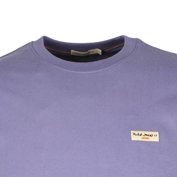 Nudie Jeans Mens Purple Daniel Logo T Shirt main image