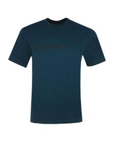 Carhartt WIP Mens Duck Blue Script T Shirt