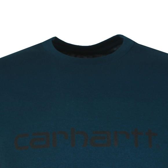 Carhartt WIP Mens Duck Blue Script T Shirt main image