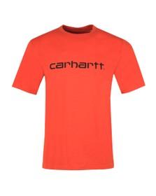 Carhartt WIP Mens Brick Orange Script T Shirt