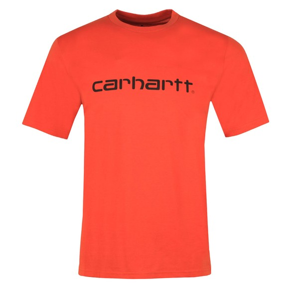 Carhartt WIP Mens Brick Orange Script T Shirt main image