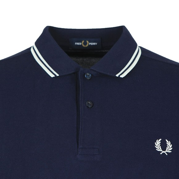 Fred Perry Mens Blue L/S Tipped Polo main image
