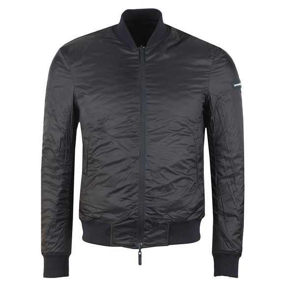 Emporio Armani Mens Blue Quilted Reversible Bomber Jacket main image