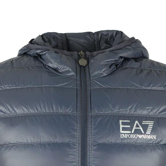 EA7 Emporio Armani Mens Blue Train Core ID Light Down Jacket main image