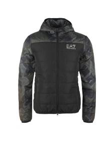 EA7 Emporio Armani Mens Black Down Jacket