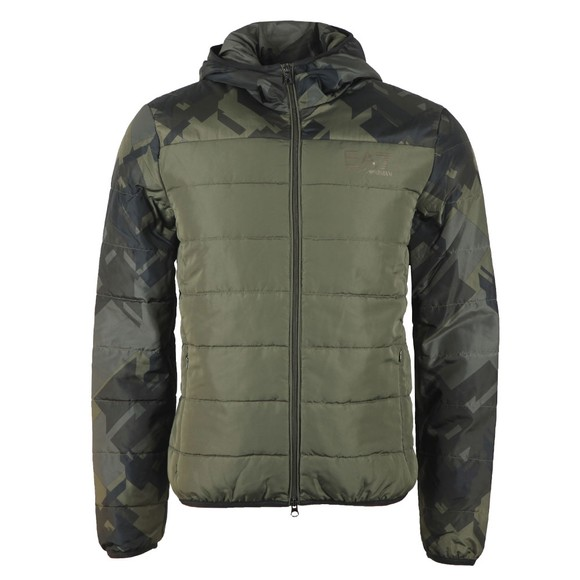 EA7 Emporio Armani Mens Green Down Jacket main image
