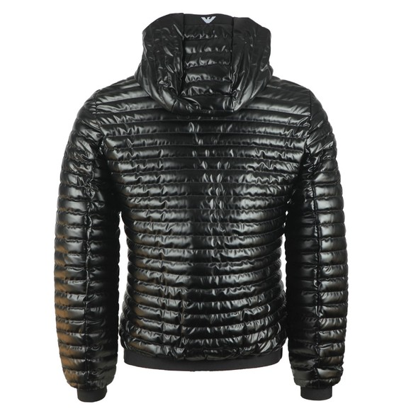 Emporio Armani Mens Black Hooded Down Jacket main image