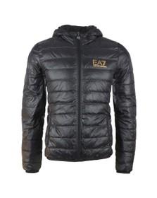 EA7 Emporio Armani Mens Black Train Core ID Light Down Jacket
