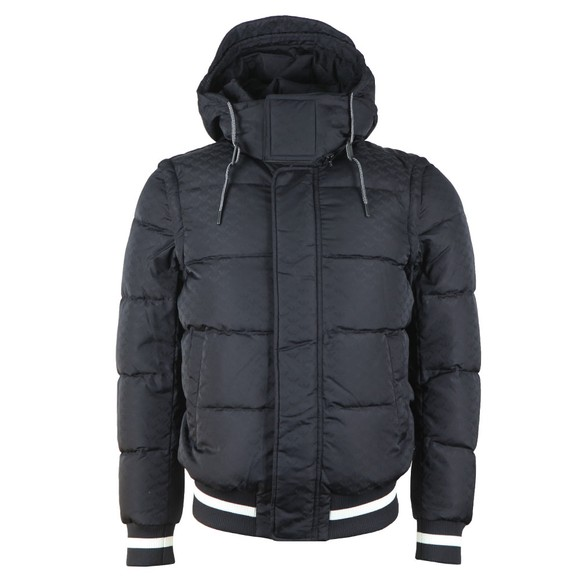 Emporio Armani Mens Blue Hooded Down Bomber main image