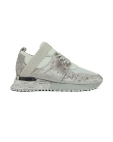 Mallet Womens Grey Elast Velvet Trainer