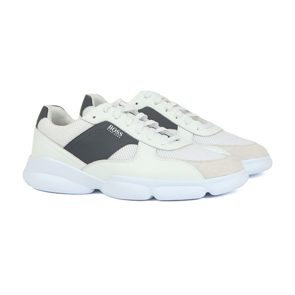 BOSS Mens White Rapid Runner Trainer