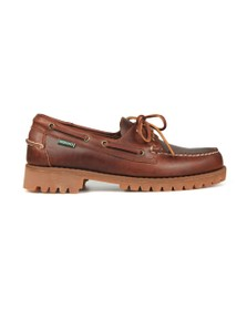 Sebago Mens Brown Ranger Waxy Boat Shoe