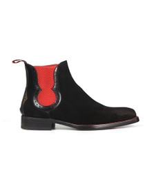 Jeffery West Mens Black Dexter Fear Suede Boot