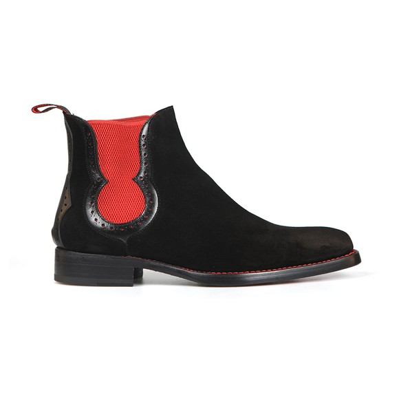 Jeffery West Mens Black Dexter Fear Suede Boot