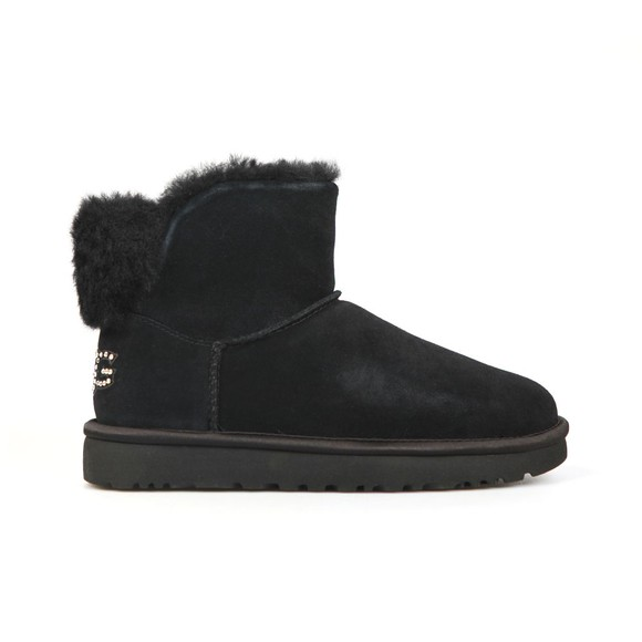 Ugg Womens Black Classic Bling Mini Boot