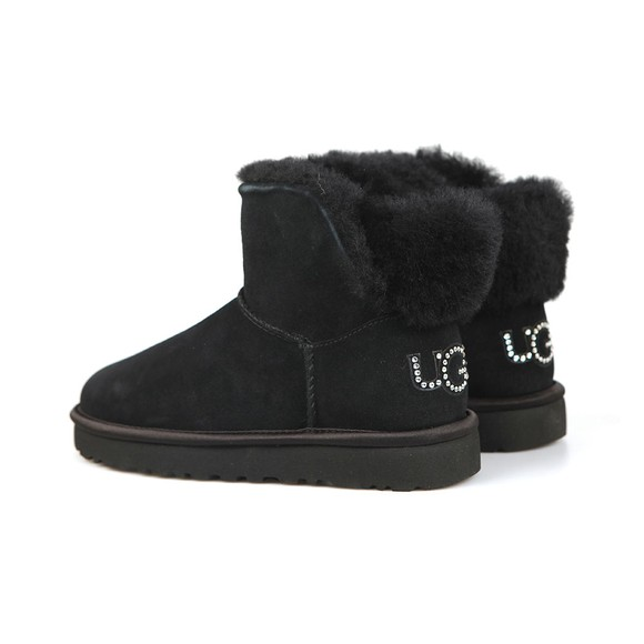 Ugg Womens Black Classic Bling Mini Boot main image