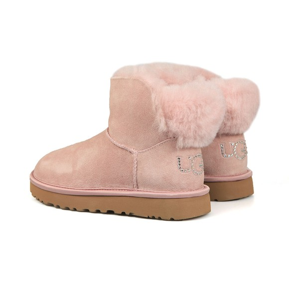 Ugg Womens Pink Classic Bling Mini Boot main image