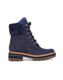 Timberland Womens Blue Courmayeur Valley Shearling Boot