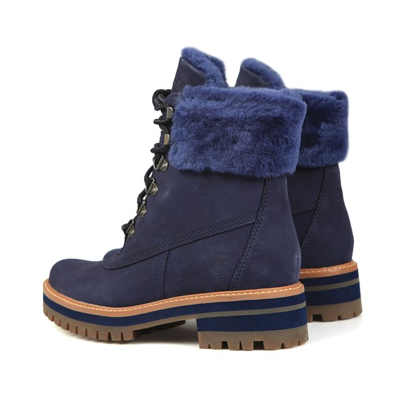 Timberland Womens Blue Courmayeur Valley Shearling Boot main image