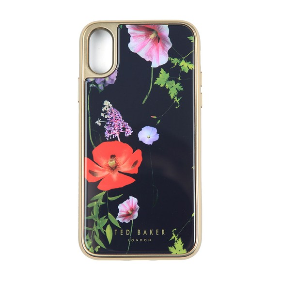 Ted Baker Womens Blue Patryce Hedgerow Iphone X Glass Clip Case main image