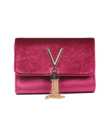 Valentino by Mario Womens Purple Marilyn Suede Small Clutch