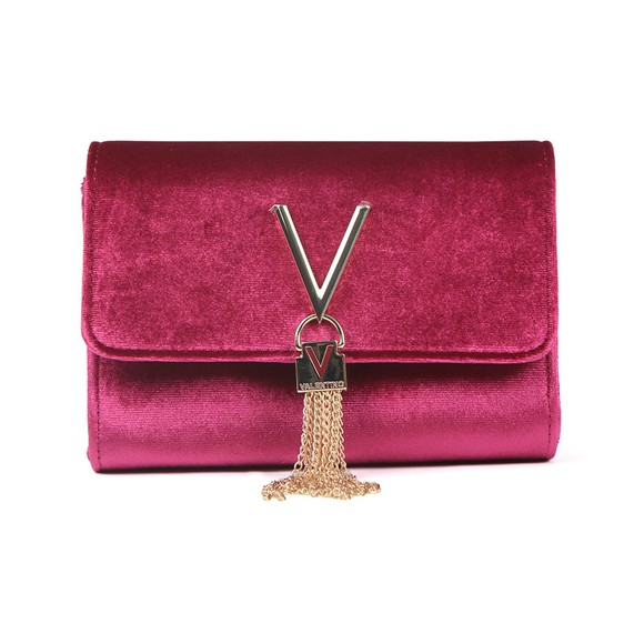 Valentino by Mario Womens Purple Marilyn Suede Small Clutch main image