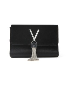 Valentino by Mario Womens Black Marilyn Suede Small Clutch