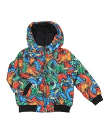 Kenzo Kids Boys Black Japanese Reversible Dragon Jacket