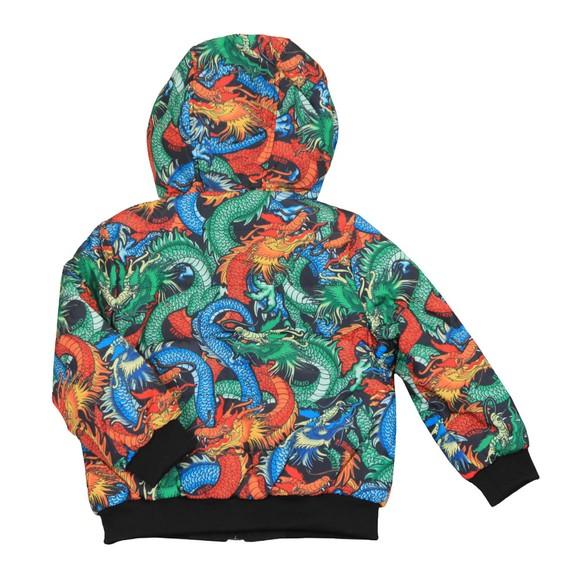 Kenzo Kids Boys Blue Japanese Reversible Dragon Jacket main image