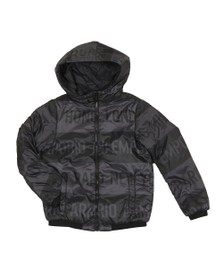 Emporio Armani Boys Black Boys Hooded Bomber Jacket