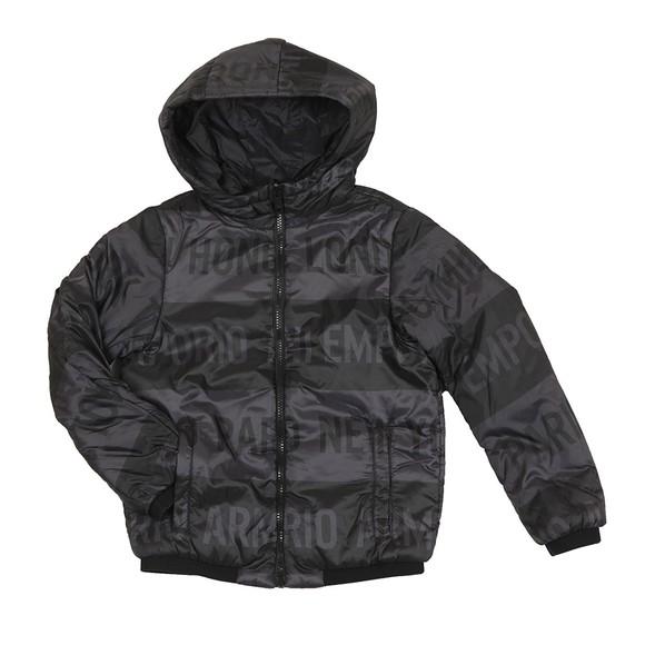 Emporio Armani Boys Black Boys Hooded Bomber Jacket