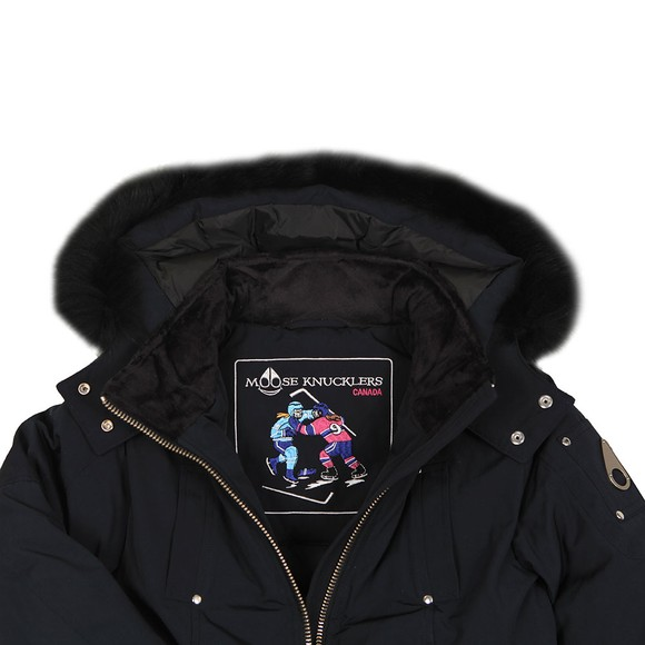 Moose Knuckles Boys Black Kids Silver Badge Bomber  main image