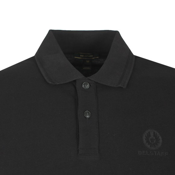 Belstaff Mens Black Chest Badge Polo Shirt main image
