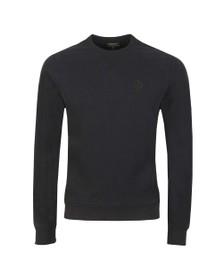 Belstaff Mens Black Chest Logo Sweatshirt