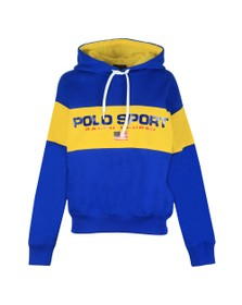 Polo Ralph Lauren Sport Womens Blue Centre Polo Sport Hoody