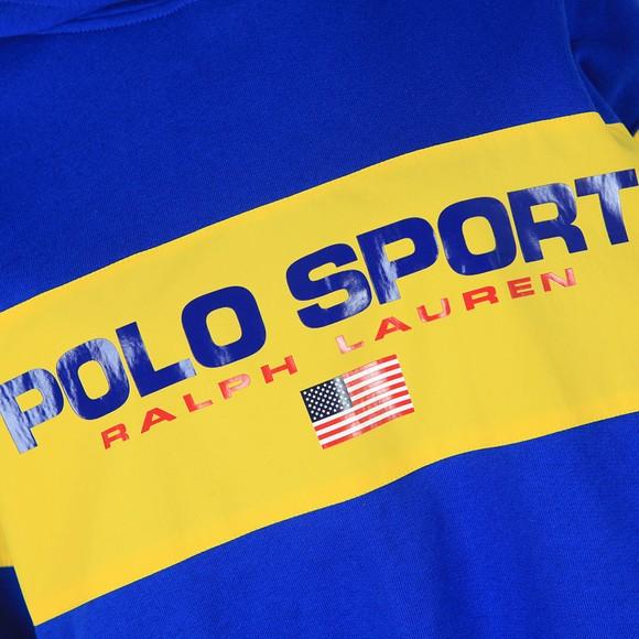 Polo Sport Ralph Lauren Womens Blue Centre Polo Sport Hoody