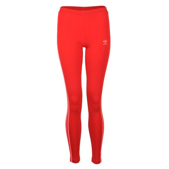 adidas Originals Womens Red 3 Stripe Leggings
