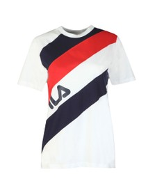 Fila Womens Blue Striped T-Shirt